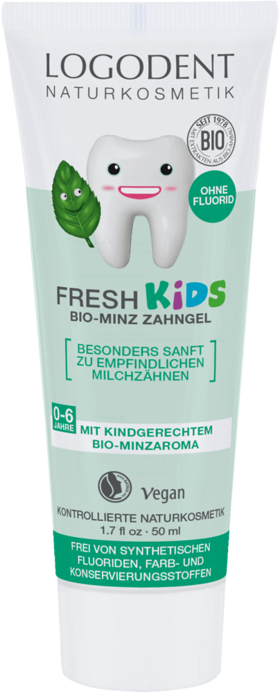 LOGODENT FRESH KIDS Zubní gel Máta 50 ml
