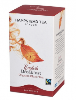 Hampstead BIO English Breakfast černý čaj Tea London 20 ks
