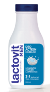 Lactovit Men DeoAction Sprchový gel 3v1 300 ml